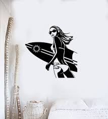 wall stickers vinyl decal sexy girl surf board extreme sports wall stickers vinyl decal sexy girl surf board extreme sports beach relax ig1464