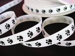 paw print ribbon 28 best ribbon images on grosgrain ribbon yards and