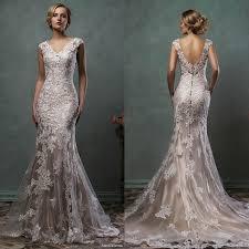 vintage lace wedding dresses vintage cheap 2016 amelia sposa mermaid wedding dresses chagne