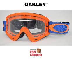 motocross goggles ebay orange blue clear oakley o frame shockwave mx goggles dirt bike