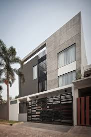Three Story House by Three Story House Gate Carporch Design A Private Residence In