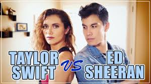 taylor swift vs ed sheeran mashup 20 songs ft alyson stoner
