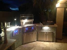 Outdoor Island Lighting Design For 8 Bbq Island
