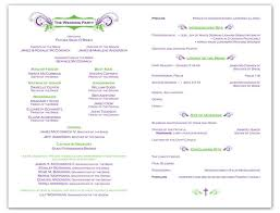 sle wording for wedding programs sles of wedding programs isura ink