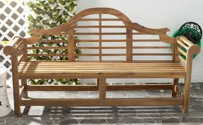 Outdoor Furniture Wood One Allium Way Liddie Acacia Wood Garden Bench U0026 Reviews Wayfair