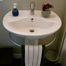 Modern Pedestal Sinks Modern Pedestal Sink With Towel Bar Homesfeed