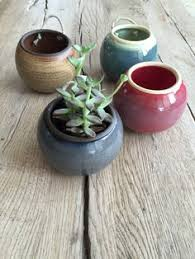 Wall Hanging Planters by Handmade Small Ceramic Hanging Planters For Succulent Or Cactus