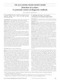detection of scabies a systematic review of diagnostic methods