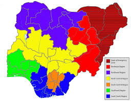 Map Of Nigeria Africa Nigerian Pathways Towards Stability Security And Democratic