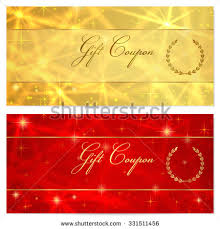 gift certificate voucher coupon template stars stock vector