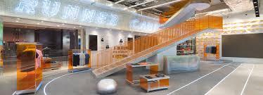 design office coastline u0027s runner camp merges a retail shoe store