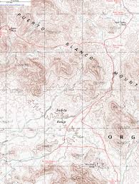 Topographic Map Of Arizona by Topographic Map Of The Baker Mine And Senita Basin Trails Organ
