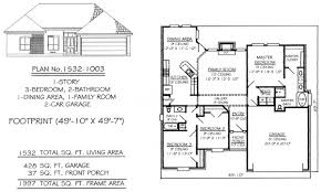 House Plans For Long Narrow Lots Narrow 1 Story Floor Plans 36 To 50 Feet Wide