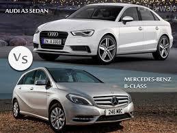 audi a3 vs mercedes a class carwale comparison audi a3 sedan vs mercedes b class carwale