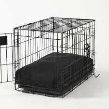 Washable Dog Beds Rectangular Dog Bed Set Black Twill