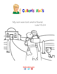bible key point coloring page the lost son online preschool