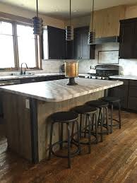 Building Kitchen Islands by Kitchen Island Wrapped In Ghost Wood Mountain House Kitchen