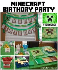 minecraft party supplies minecraft birthday party coloradomoms