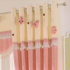 pink cute chenille fabric curtains for kids