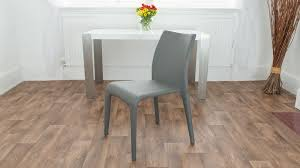 Dining Chairs Grey Argenta Coloured Faux Leather Chair Modern Funky Colours Stackable