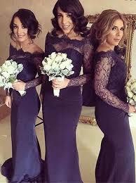 p396 sleeve navy bridesmaid dresses lace bridesmaid dresses