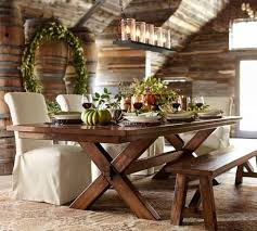 rustic dining room with linear chandelier stunning linear