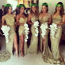 bridal party dresses aliexpress buy 2015 plus size gold sequin sparkly
