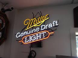 miller genuine draft light miller genuine draft light neon advertising promotion electric bar