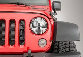 jeep wrangler or jeep wrangler unlimited quadratec ii led headlights for 07 18 jeep wrangler