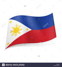 Red White Striped Flag National Flag Of Philippines Blue And Red Horizontal Stripes
