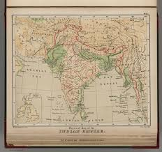 India Physical Map by Physical Map Of The Indian Empire David Rumsey Historical Map