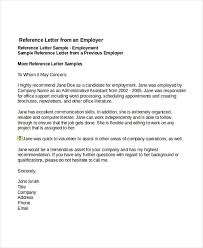 sample reference letters for job download for free