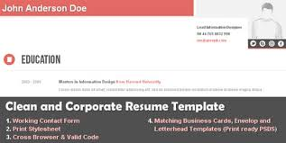 Corporate Resume Template Clean And Corporate Cv Resume Html Template By Themesforce