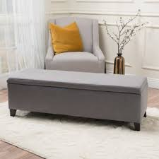 Upholstered Storage Bench With Back Extra Long Dining Bench Wayfair