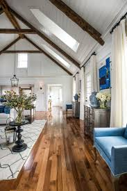 Refinish Wood Paneling Living Room Asian Craftsman Living Room With Exposed Beam Wood