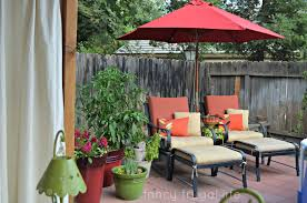 Patio Table Umbrella Walmart by Cabana U201d Patio Makeover With Diy Drop Cloth Curtains