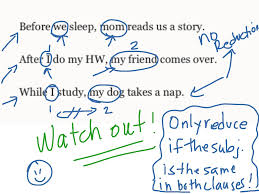 reducing adverb clauses of time grammar clauses adverbs esl