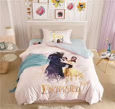 bed spreads for girls disney beauty and the beast 3d bedding set for girls bedroom decor