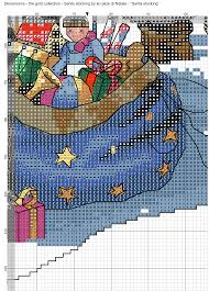 santa stocking 9 calze di natale pinterest cross stitch
