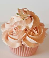 shabby cottage coral blush rosette fake cupcake photo props home