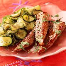 cuisiner les aiguillettes de canard aiguillettes de canard aux courgettes recette aiguillettes de