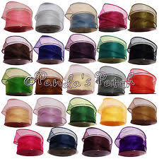 wire edged ribbon unbranded organza wire edged ribbons ribboncraft ebay