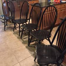 Black Windsor Chairs Find More 5 Black Distressed Windsor Chairs For Sale At Up To