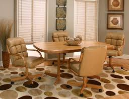 dining room simple dining room chairs with arms and casters
