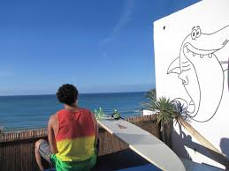 Surf Mural by Surf Holidays Accommodation Search In Taghazout Morocco
