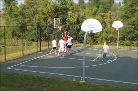 Build A Basketball Court In Backyard How To Make A Diy Backyard Basketball Court