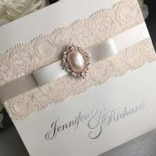 Vintage Lace Wedding Invitations Pearls U0026 Lace Wedding Invitations Weddings
