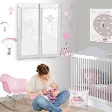 store chambre bébé thème avion et montgolfière pour chambre bébé fille