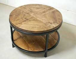 round wood coffee table rustic industrial round table industrial round wood coffee table two tier