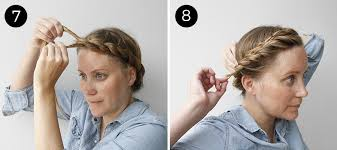 hair braiding styles step by step easy updo twisted crown braid more com